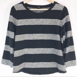 J. Crew Women's Loomknit Striped Sweatshirt Size M